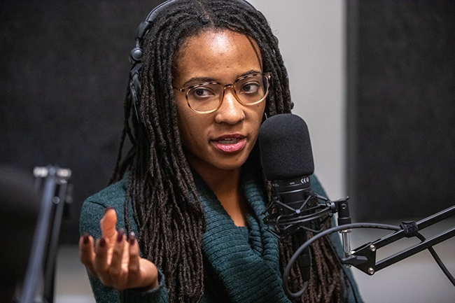 Janelle Dunlap, Artist and Curator, participates in Episode 7 of Queen City Nerve's Nooze Hounds podcast.