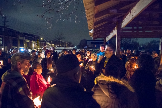 A candlelight service was officated in honor of Scott Brooks of Brooks' Sandwich House.