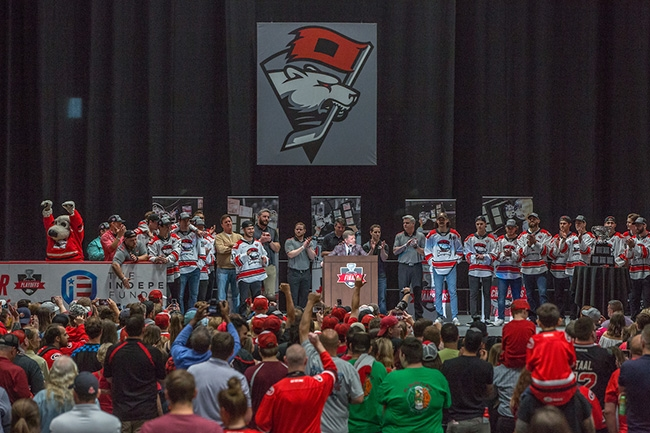Charlotte Checkers host a free fan event at Bojangles Coliseum to celebrate winning the 2019 Calder Cup Championship.