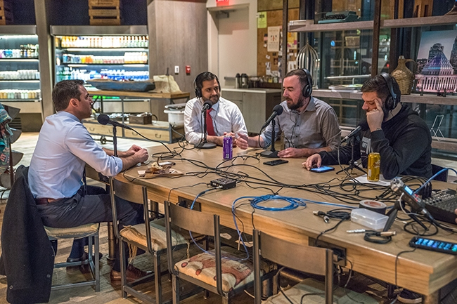 NC Senators Jeff Jackson and Mujtaba Mohammed join Queen City Nerve for a special on-location recording of Nooze Hounds, at Coco And The Director Coffee & Co-Lab.