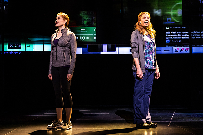 Christiane Noll as Cynthia Murphy (left) and Jessica Phillips as Heidi Hansen. (Photo by Matthew Murphy) Dear Evan Hansen
