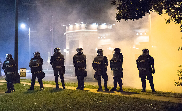use of tear gas, riot control agents